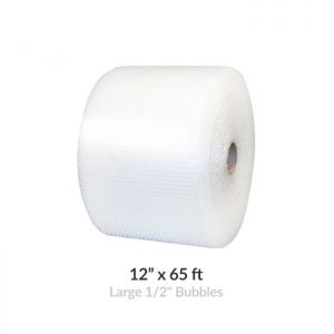 "LARGE BUBBLE ROLL - 65' X 12"" WIDE"