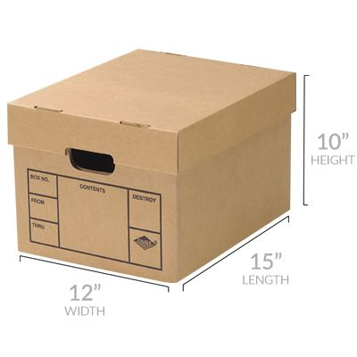 FILE STORAGE BOXES 12 PACK 200# STRENGTH