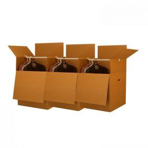 """SHORTY WARDROBE BOXES (BUNDLE OF 3) 20"""" X 20"""" X 34"""""""