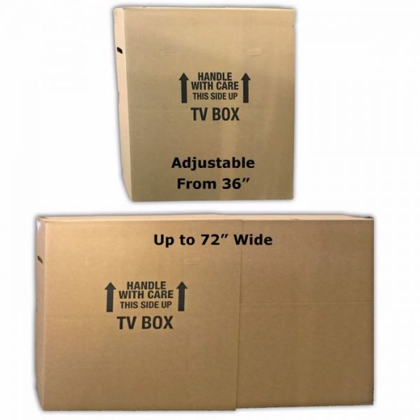 """TV MOVING BOX UP TO 70"""" (2 PACK)"""